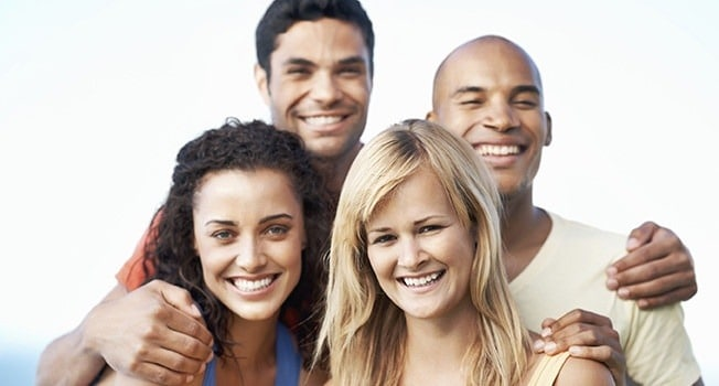group of friends after Dental Financing at Valencia CA dentist