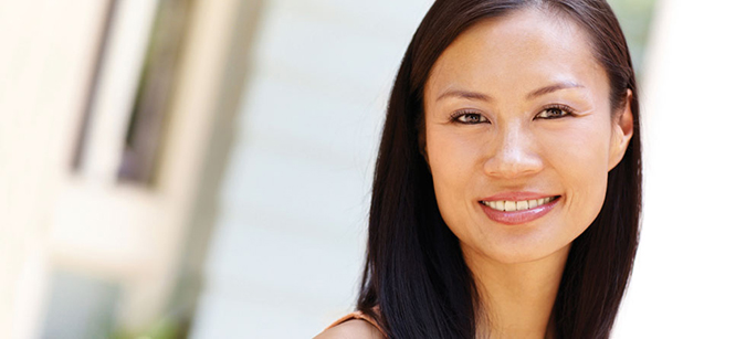 Woman after Root Canal Treatment Therapy at her Palmdale CA dentist