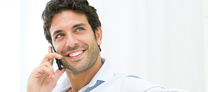 Man after TMJ - TMD Treatment with his Palmdale CA dentist