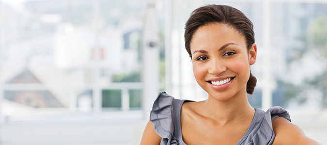 Woman after dental Veneers from her Palmdale CA dentist