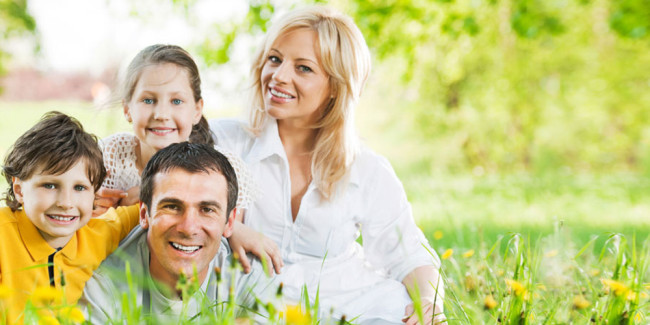 Family after a fluoride treatment from Palmdale CA dentist