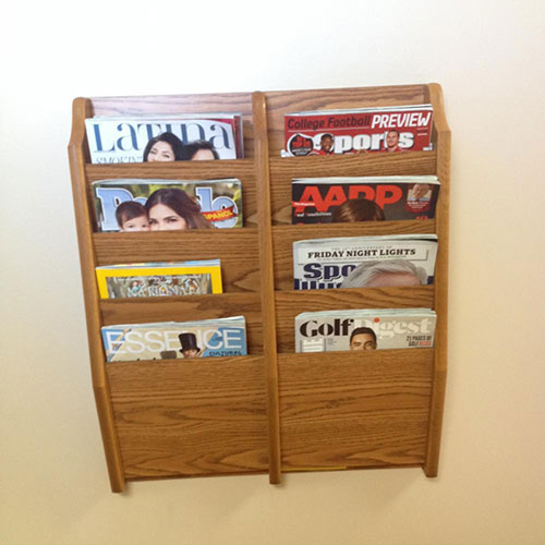 Magazine rack at Palmdale dentist AV Sierra Dental Center