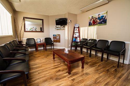Waiting area at Palmdale dentist AV Sierra Dental Center