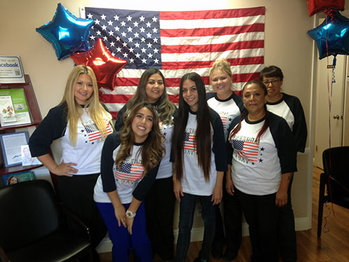 AV Sierra Dental Center team during Freedom Day event in Palmdale CA